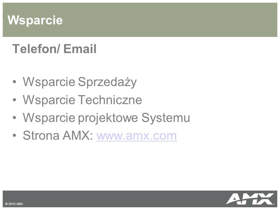 Wsparcie projektowe Systemu Strona AMX: www.amx.com