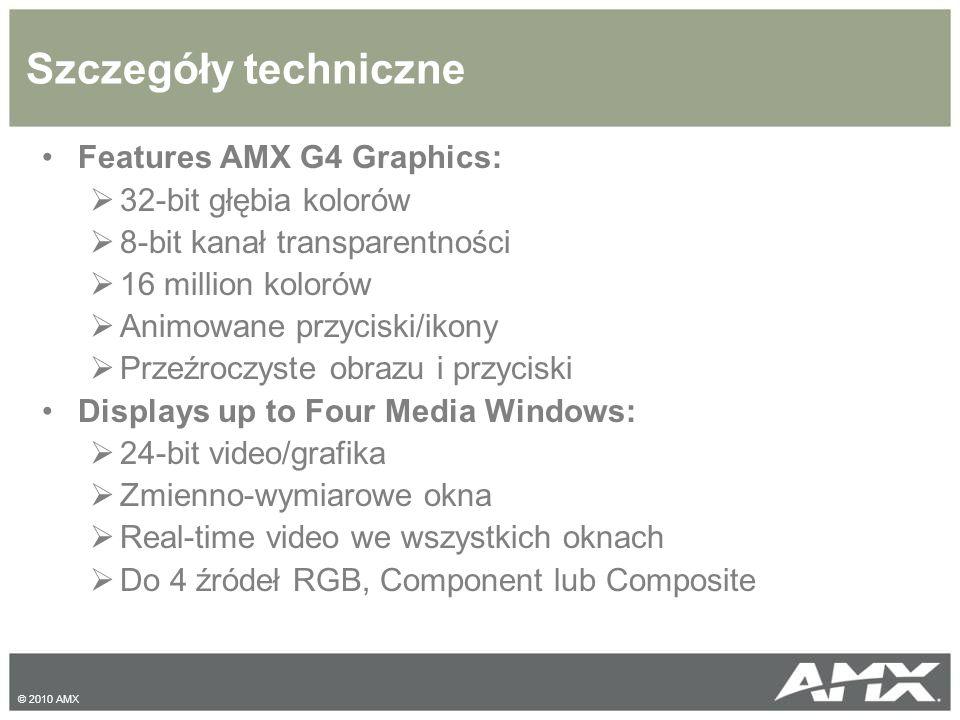 Szczegóły techniczne Features AMX G4 Graphics: 32-bit głębia kolorów