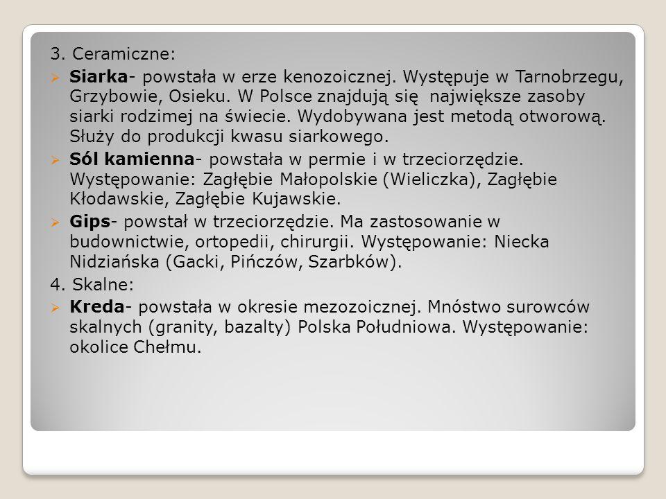 3. Ceramiczne: