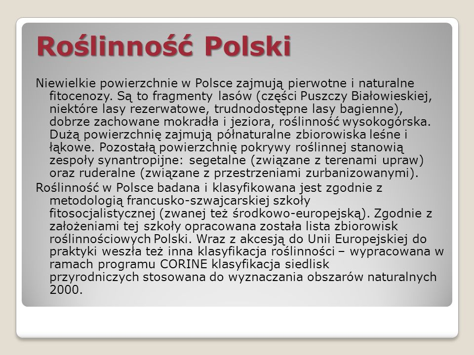 Roślinność Polski