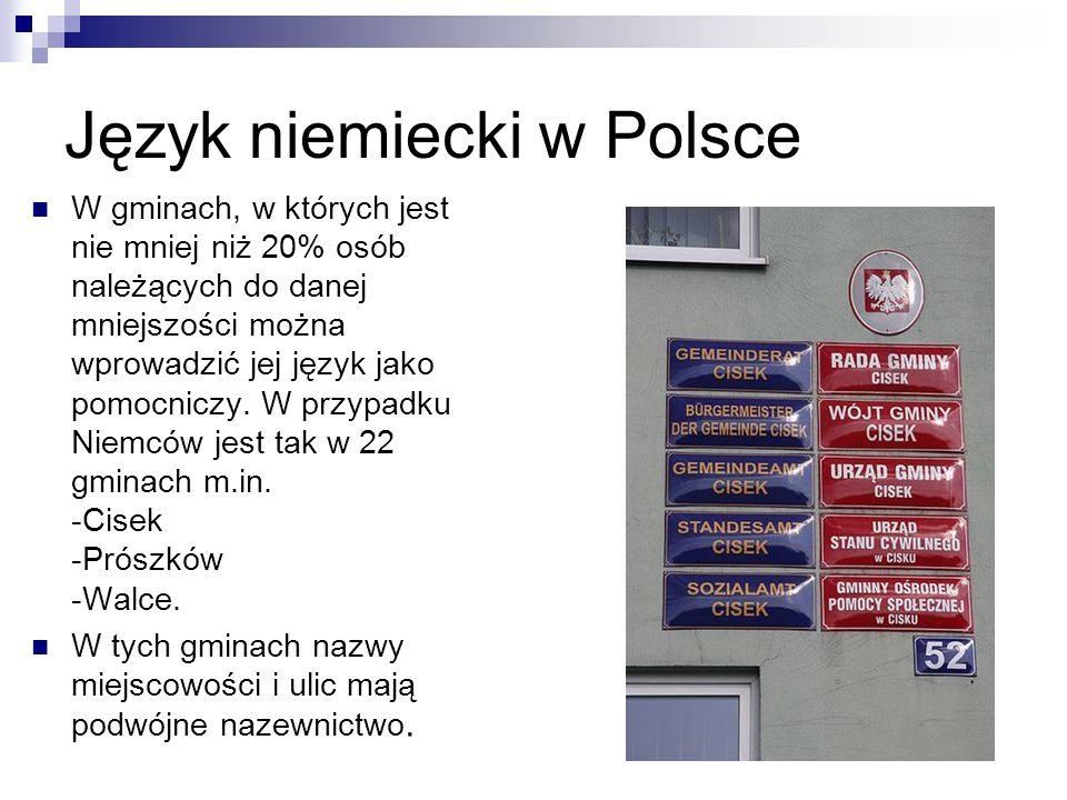 Język niemiecki w Polsce