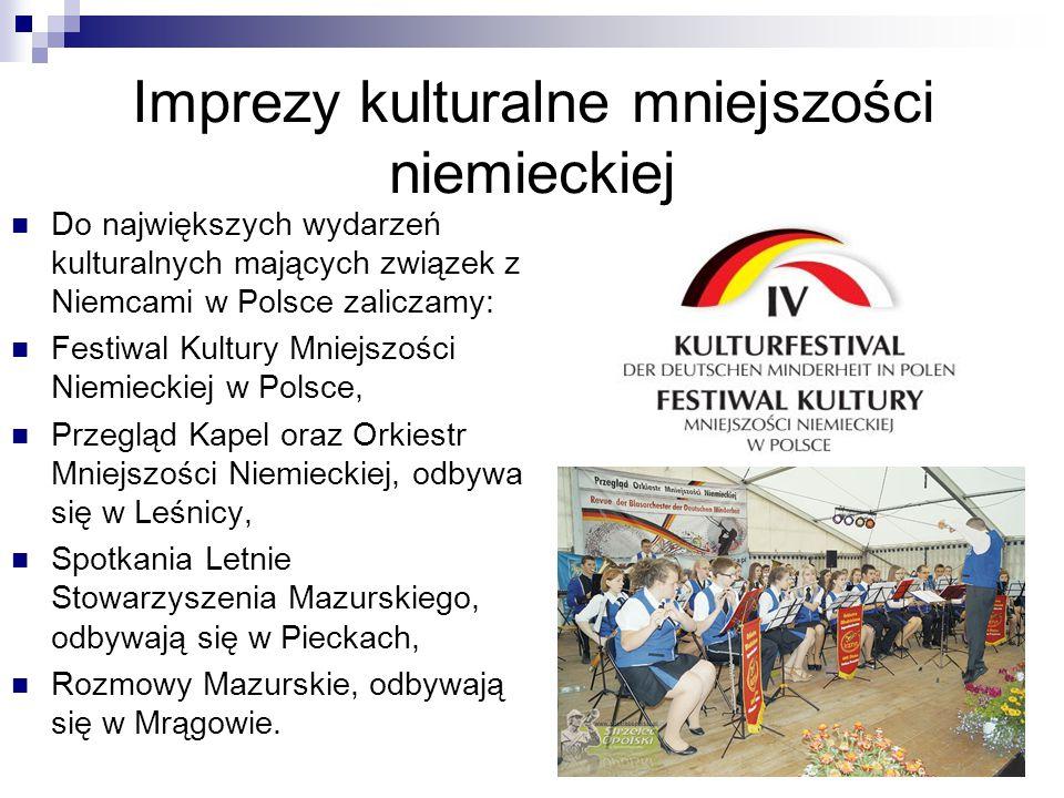 Imprezy kulturalne mniejszości niemieckiej