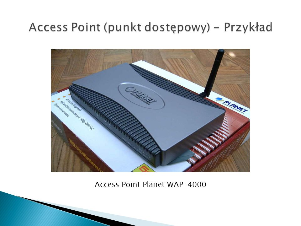 Access Point (punkt dostępowy) - Przykład