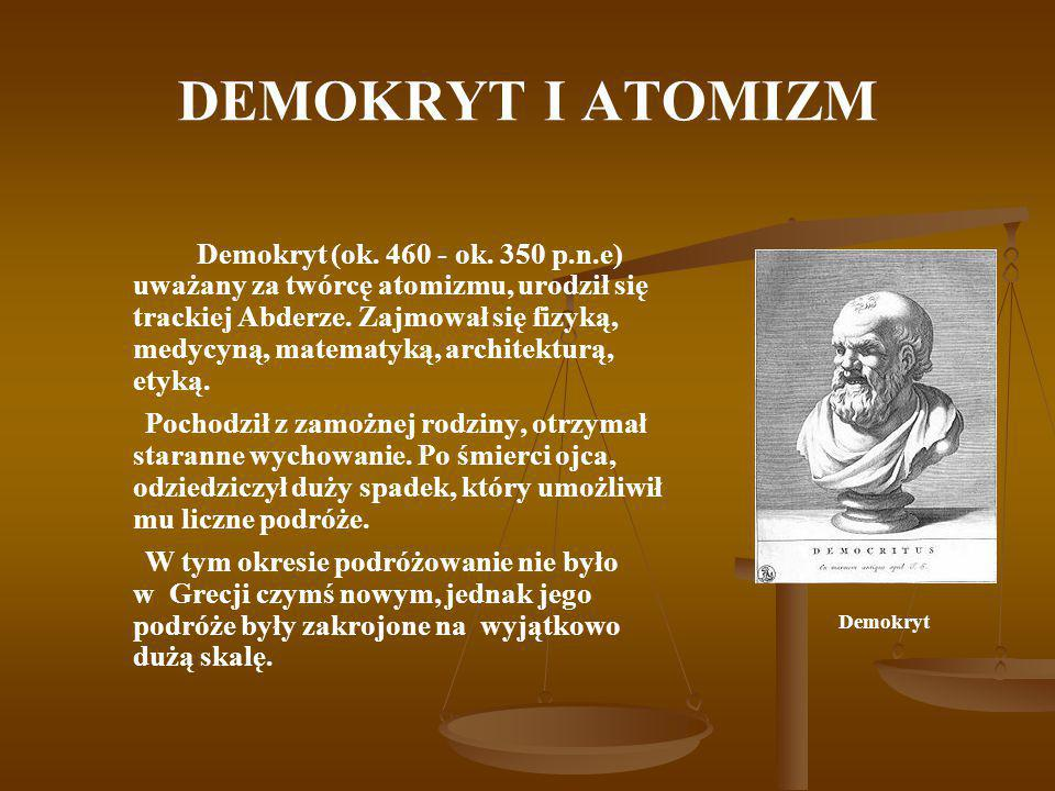 DEMOKRYT I ATOMIZM