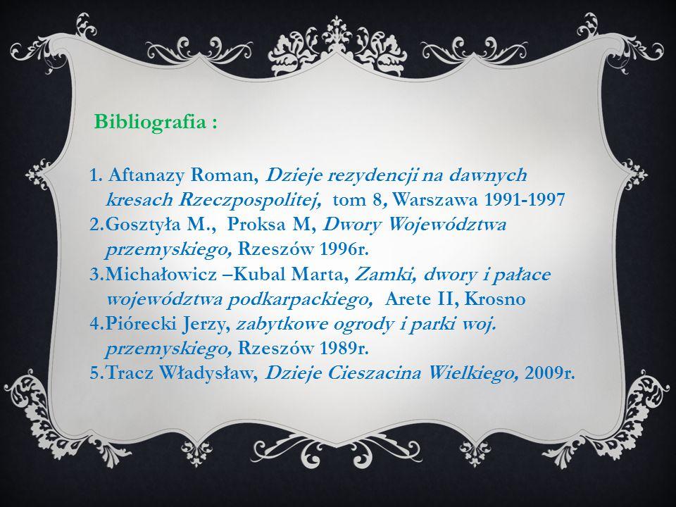 1. Aftanazy Roman, Dzieje rezydencji na dawnych