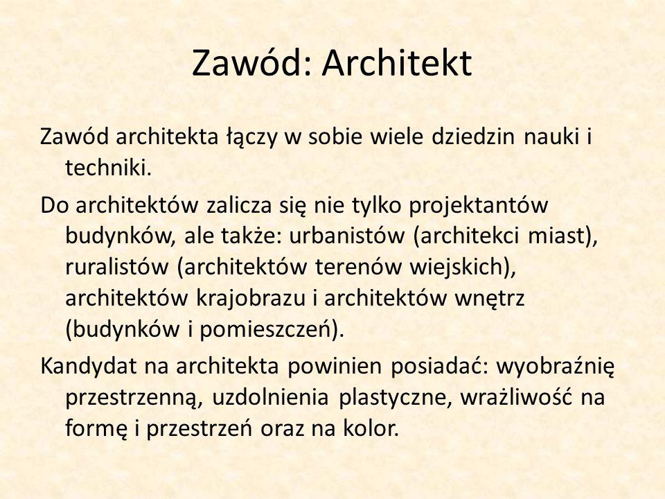 Zawód: Architekt