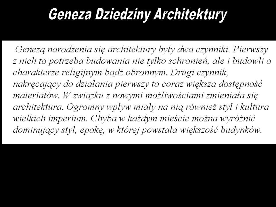 Geneza Dziedziny Architektury