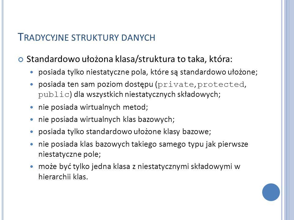 Tradycyjne struktury danych