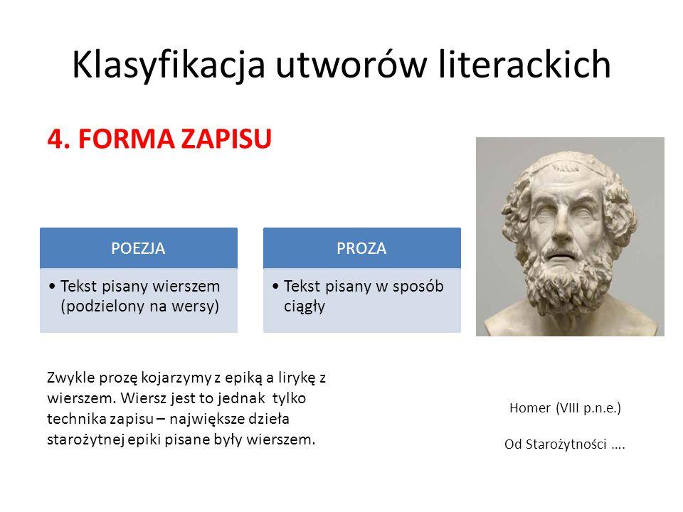 Klasyfikacja utworów literackich