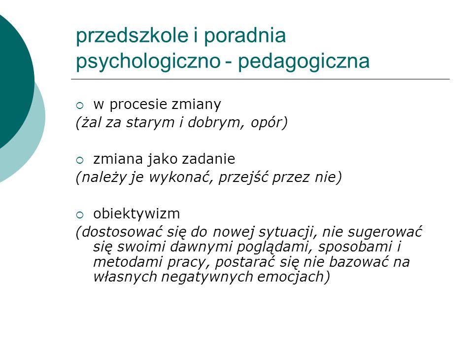 przedszkole i poradnia psychologiczno - pedagogiczna
