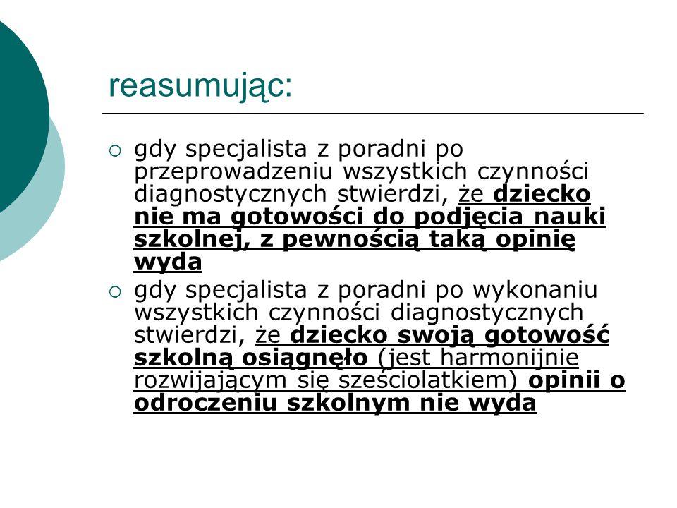 reasumując: