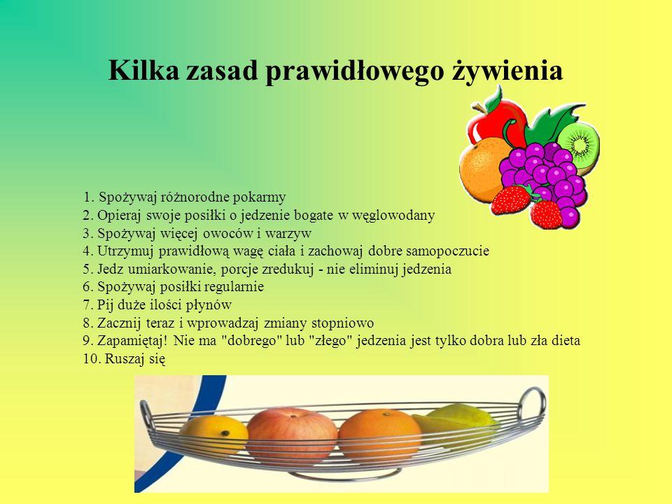 Kilka zasad prawidłowego żywienia