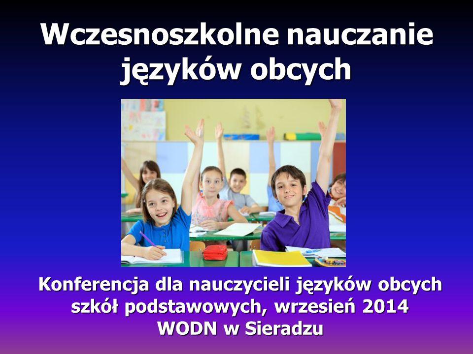 Wczesnoszkolne nauczanie języków obcych