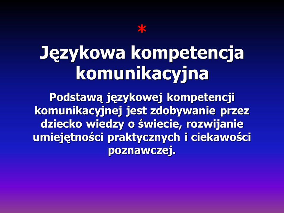 * Językowa kompetencja komunikacyjna