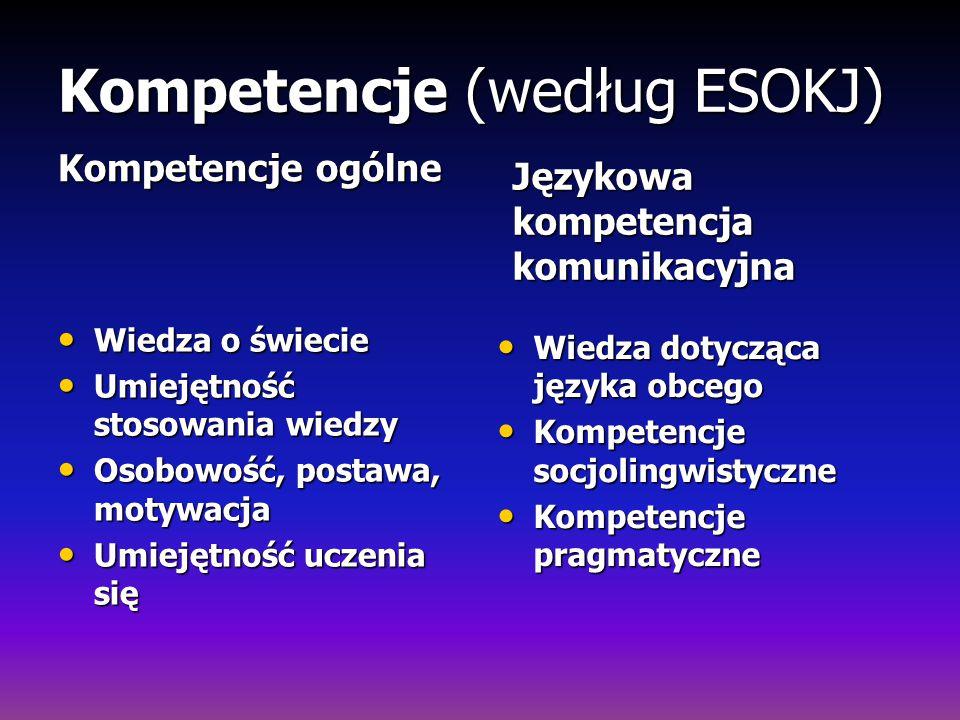 Kompetencje (według ESOKJ)