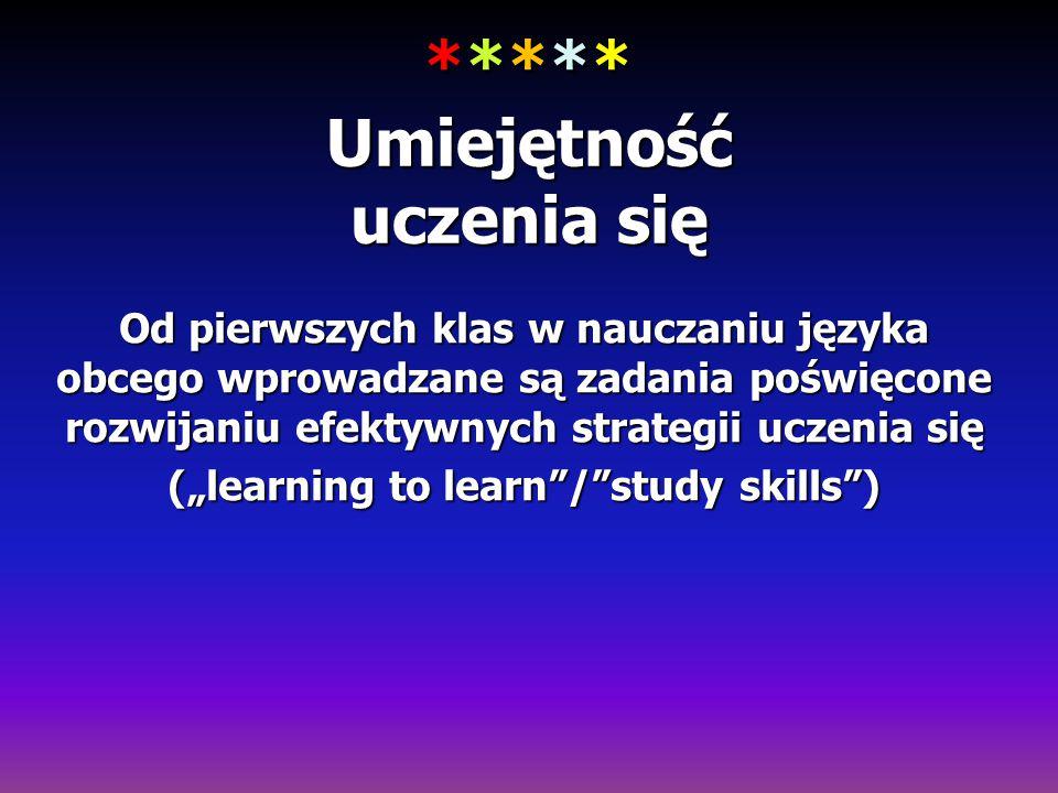 ***** Umiejętność uczenia się