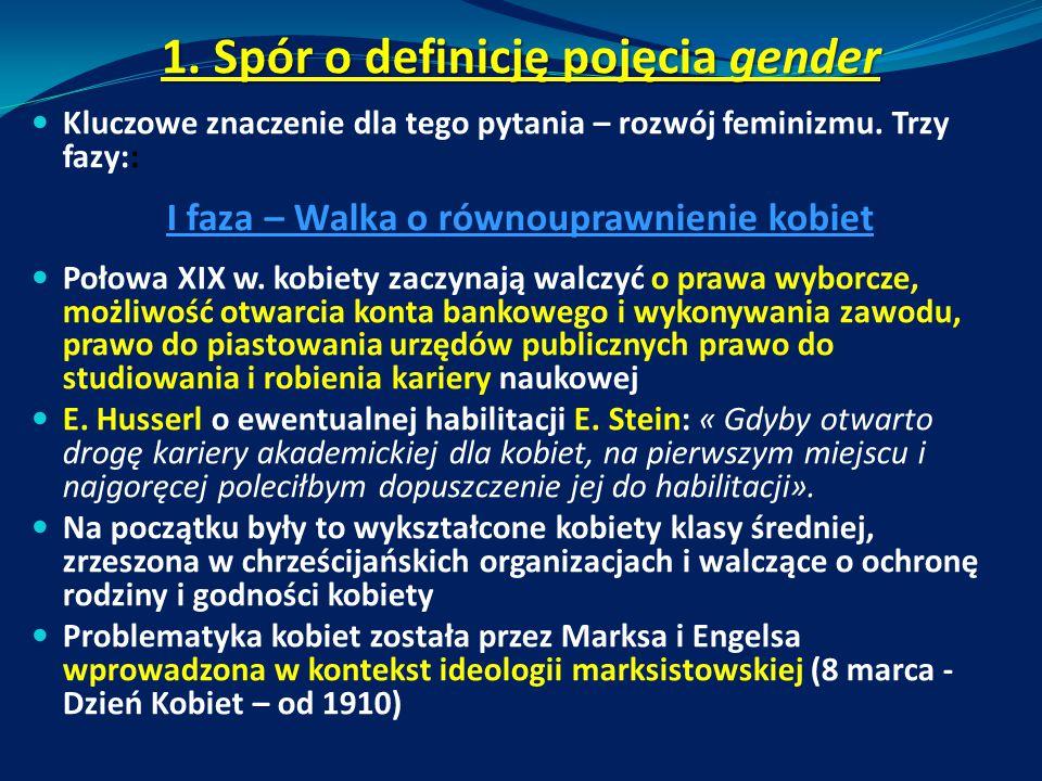 1. Spór o definicję pojęcia gender