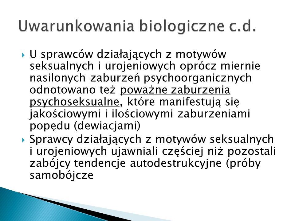 Uwarunkowania biologiczne c.d.
