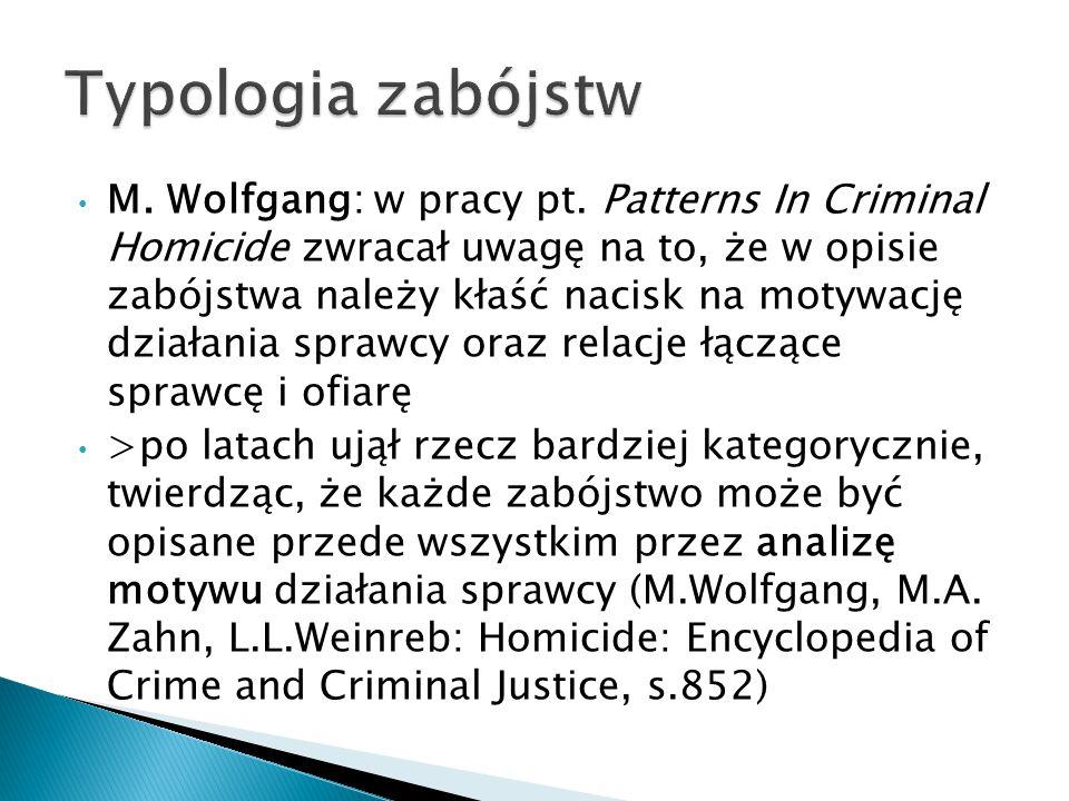 Typologia zabójstw