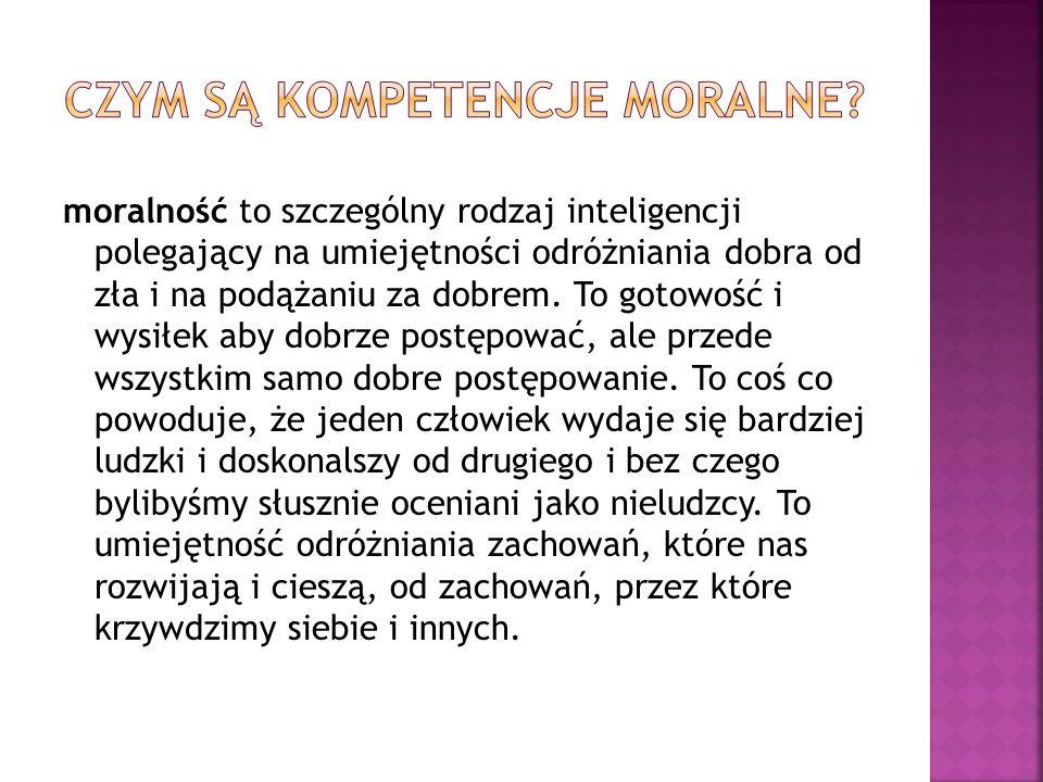 Czym są kompetencje moralne