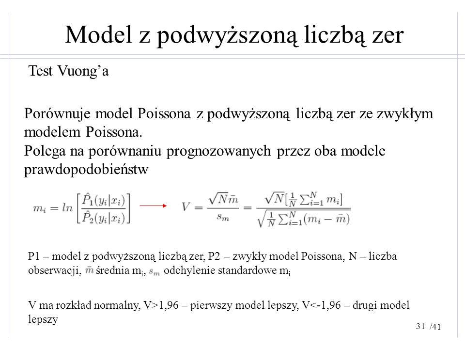 Model z podwyższoną liczbą zer