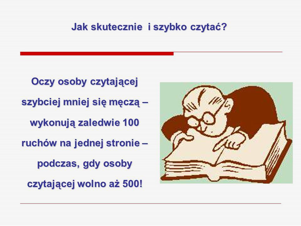Jak skutecznie i szybko czytać
