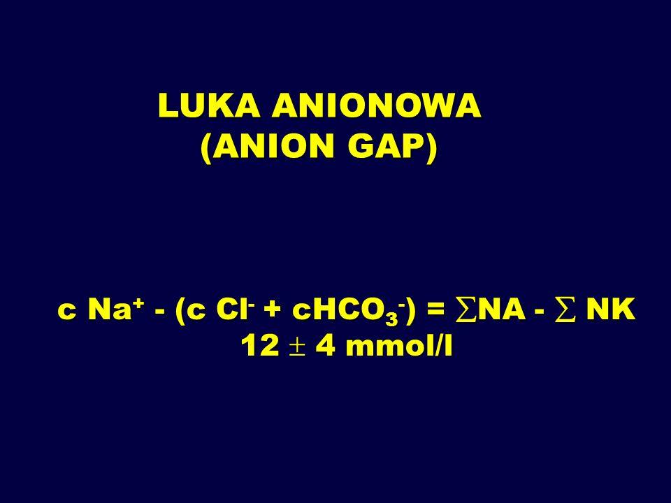 c Na+ - (c Cl- + cHCO3-) = NA -  NK