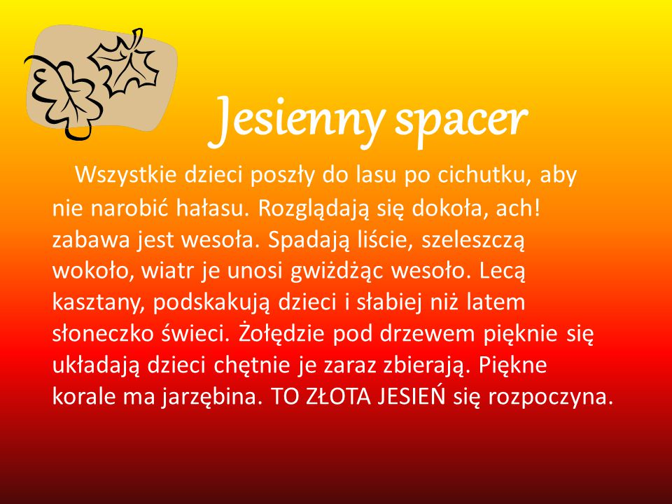 Jesienny spacer
