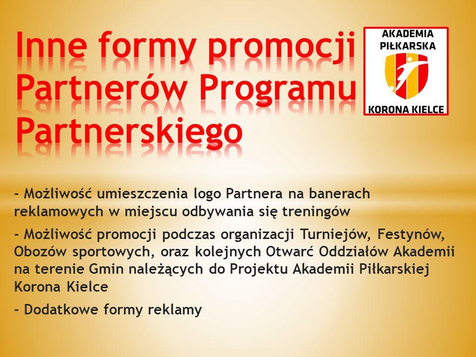 Inne formy promocji Partnerów Programu Partnerskiego