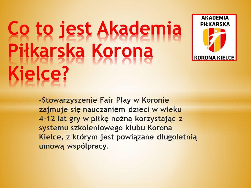 Co to jest Akademia Piłkarska Korona Kielce