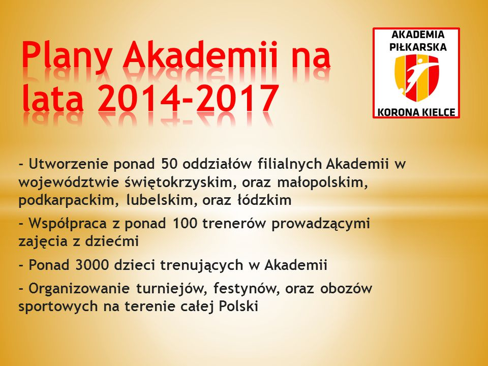 Plany Akademii na lata 2014-2017