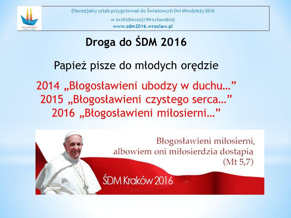 """Papież pisze do młodych orędzie 2014 """"Błogosławieni ubodzy w duchu…"""