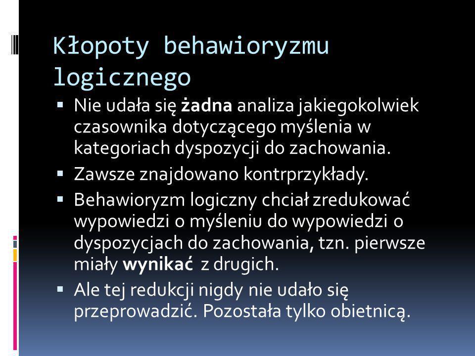 Kłopoty behawioryzmu logicznego