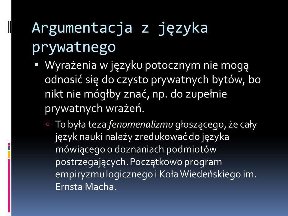 Argumentacja z języka prywatnego