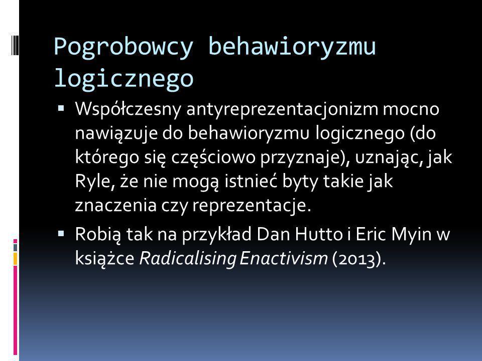 Pogrobowcy behawioryzmu logicznego