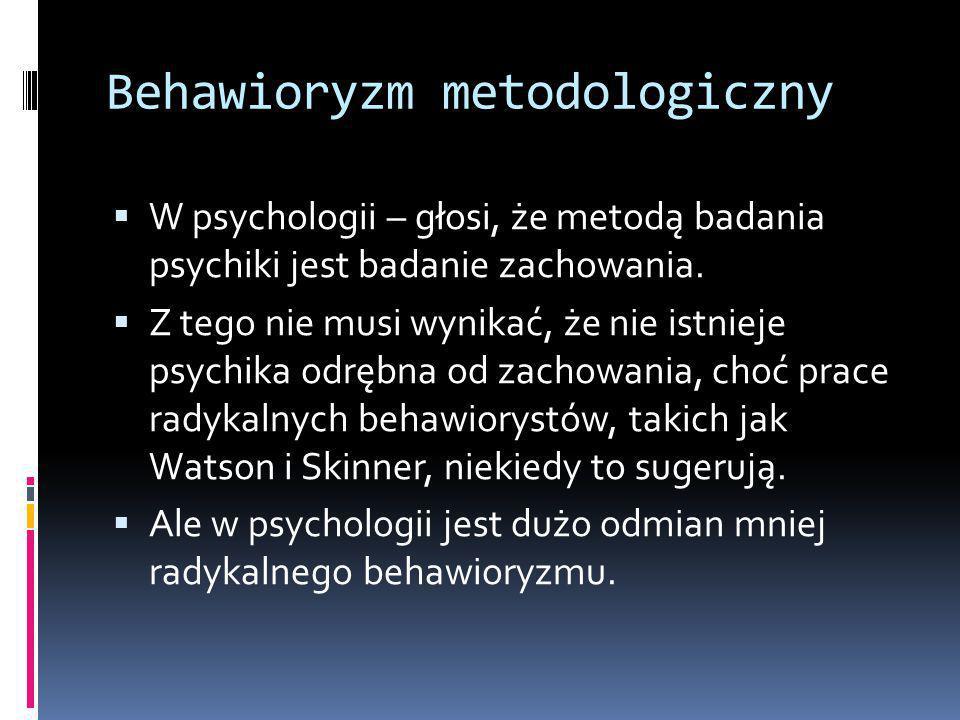 Behawioryzm metodologiczny