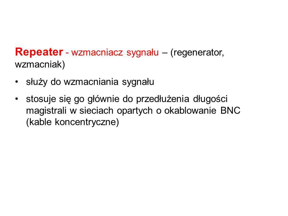 Repeater - wzmacniacz sygnału – (regenerator, wzmacniak)