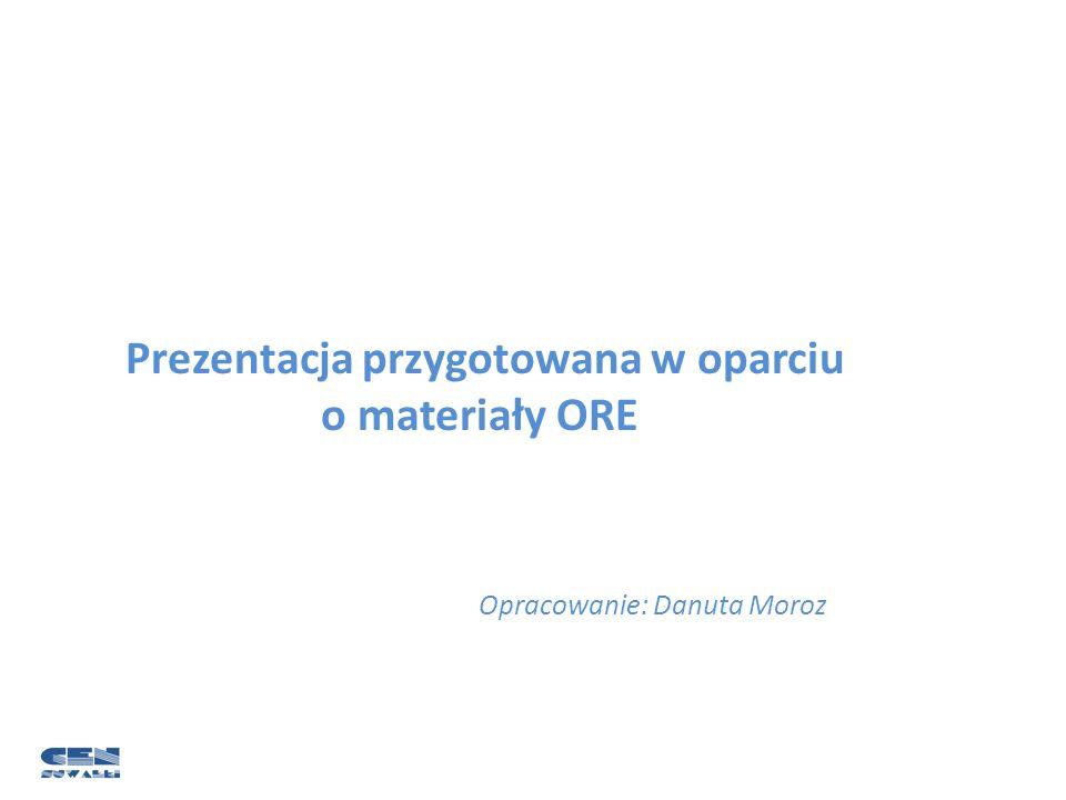 Prezentacja przygotowana w oparciu o materiały ORE