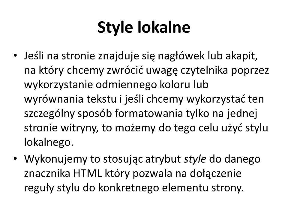 Style lokalne