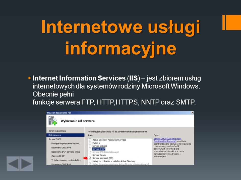 Internetowe usługi informacyjne