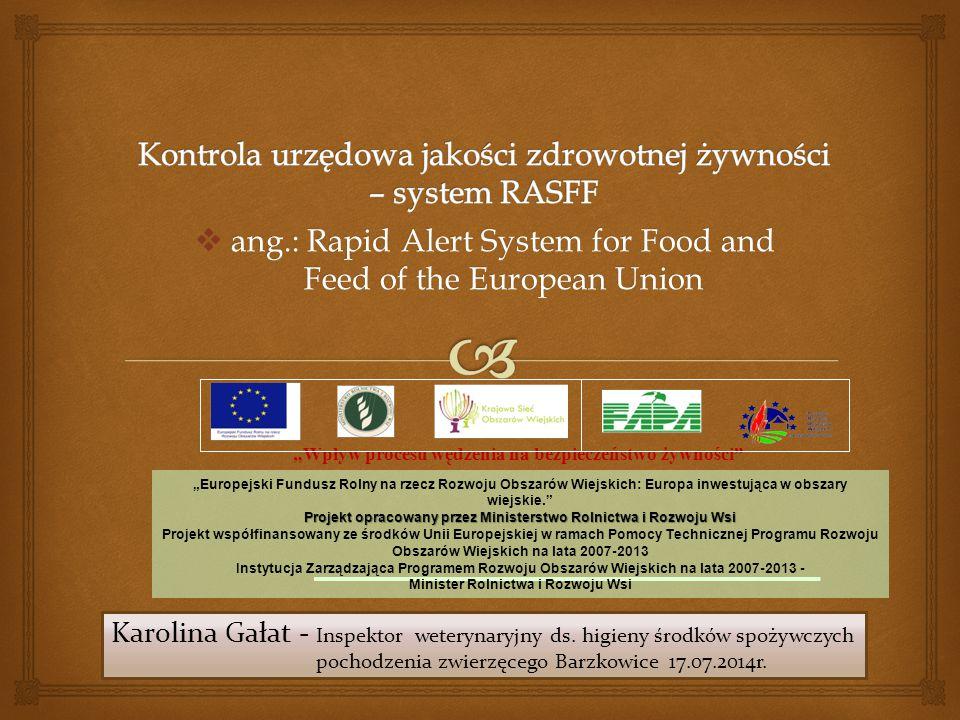 Kontrola urzędowa jakości zdrowotnej żywności – system RASFF
