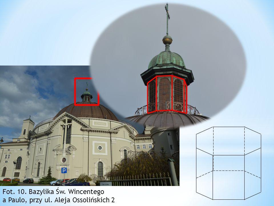 Zaznaczony fragment (który nazywamy latarnią z krzyżem) Bazyliki Św
