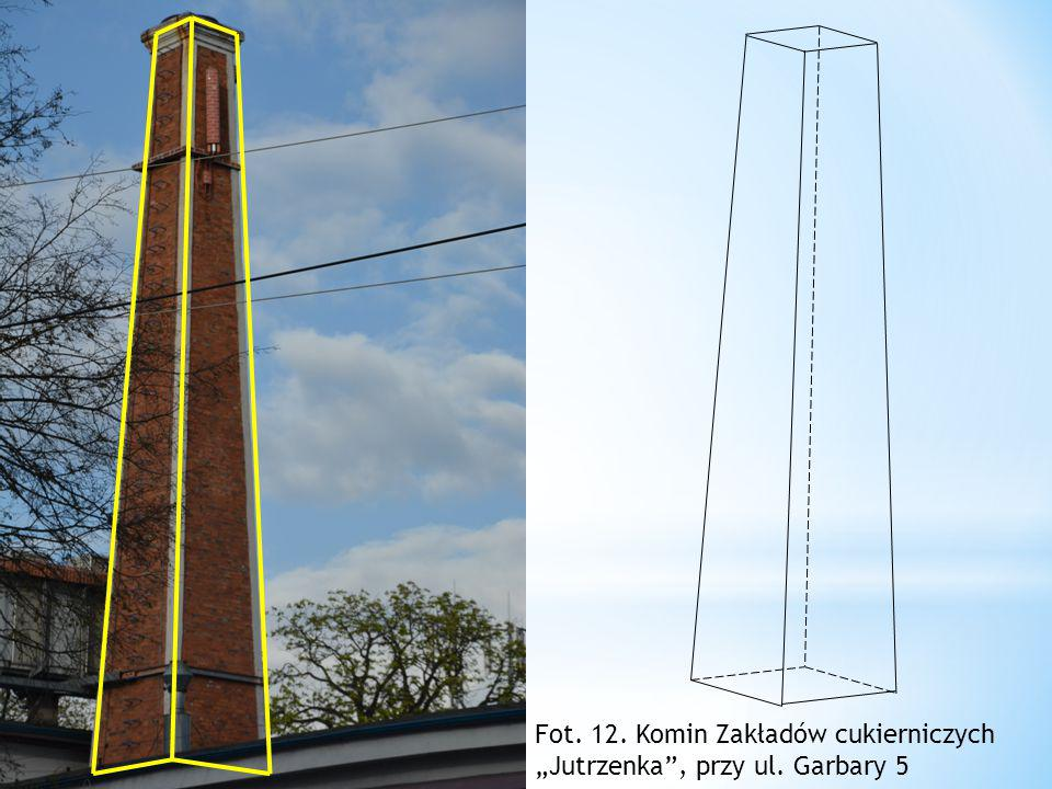 """Fot. 12. Komin Zakładów cukierniczych """"Jutrzenka , przy ul. Garbary 5"""