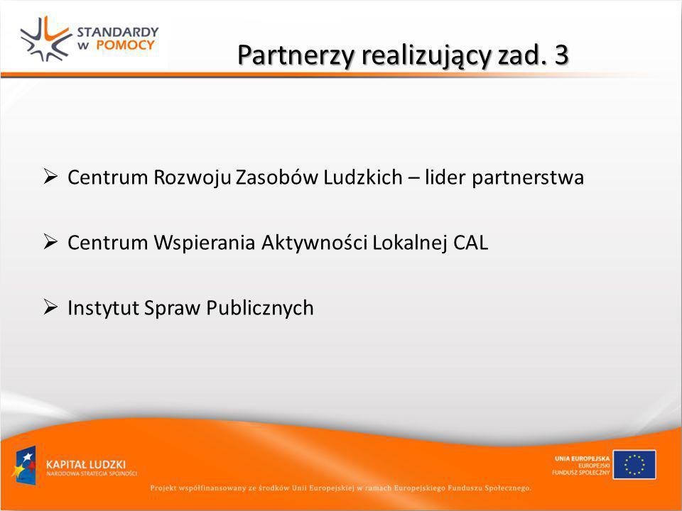 Partnerzy realizujący zad. 3
