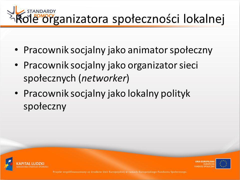 Role organizatora społeczności lokalnej