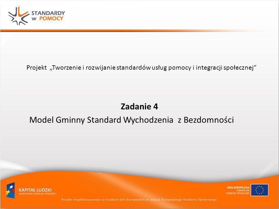 Model Gminny Standard Wychodzenia z Bezdomności