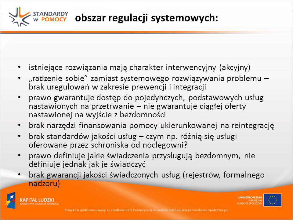 obszar regulacji systemowych: