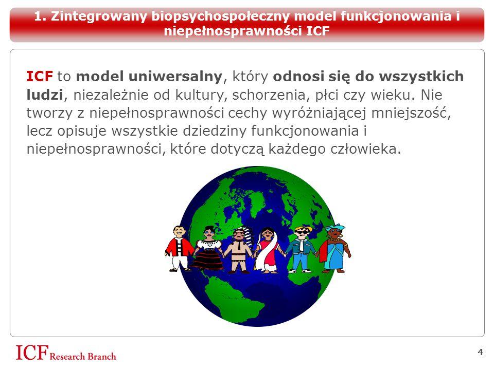 1. Zintegrowany biopsychospołeczny model funkcjonowania i niepełnosprawności ICF