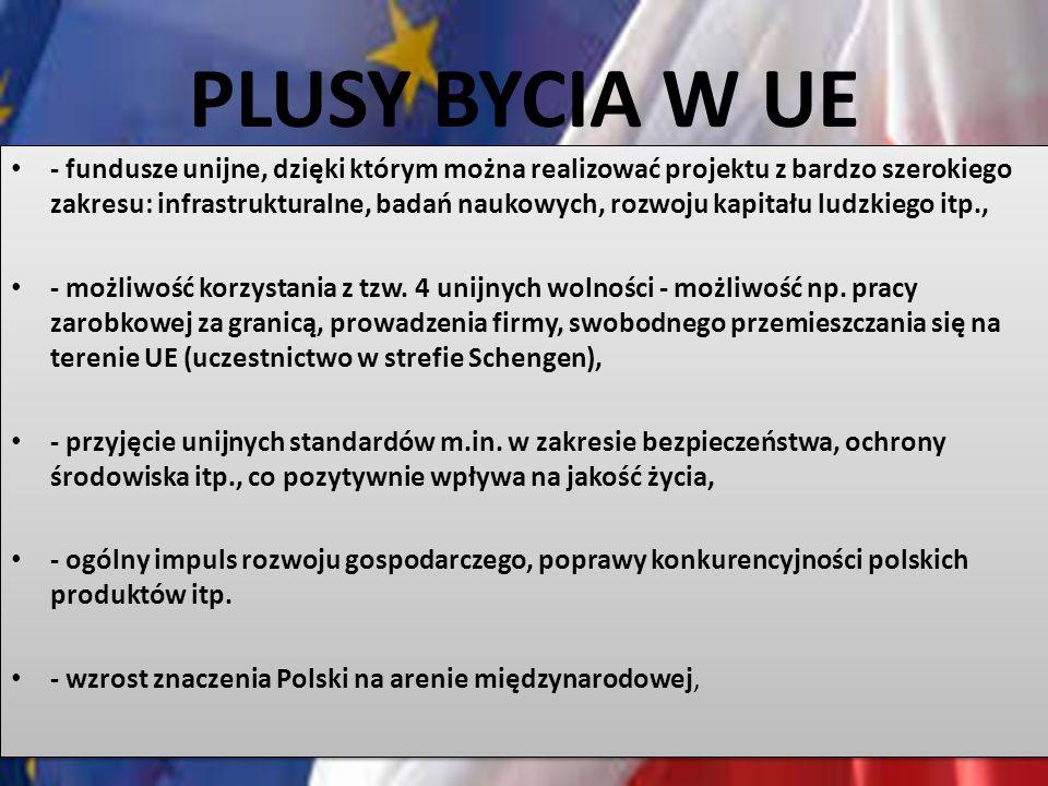 PLUSY BYCIA W UE
