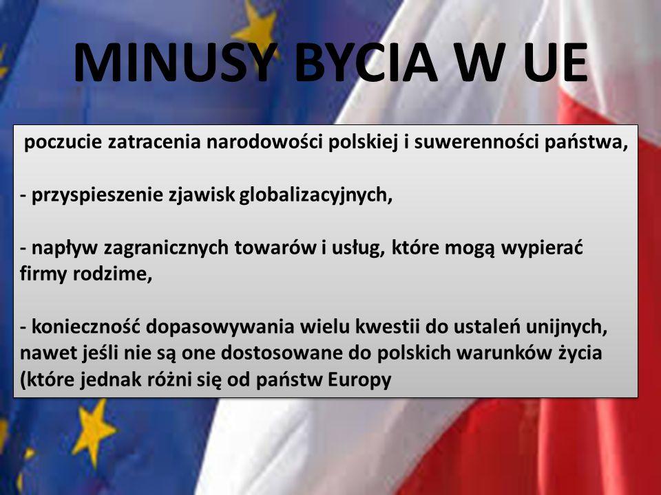 MINUSY BYCIA W UE - przyspieszenie zjawisk globalizacyjnych,